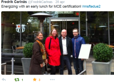 1. Energizing lunch, MCE